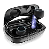 Auriculares Bluetooth, iPosible Auriculares Inalámbricos Mini Twins Estéreo In-Ear Bluetooth 5.0...